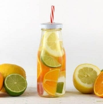 Citrus Fruit Infused Water for Kids - a fun way to convince kids to drink enough water and stay hydrated this summer - recipe from Eats Amazing UK