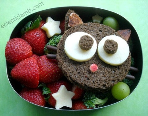 Cute Choccocat Sandwich Bento Lunch from Eclectic Lamb