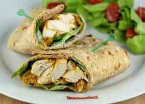 Easy Oven Baked Chicken Tikka Wraps