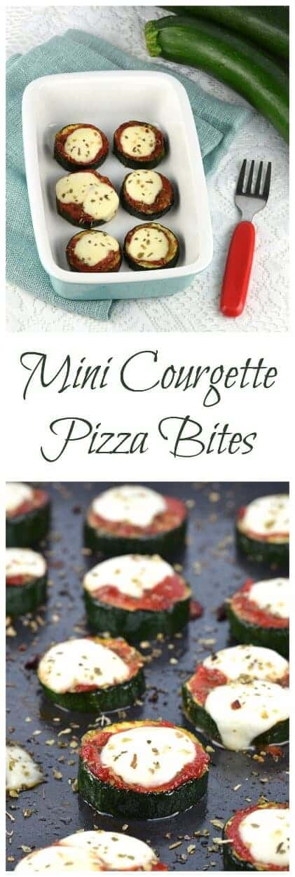 Delicious courgette or zucchini pizza bites - these make a tasty gluten free snack for kids and adults too - with free kid friendly printable recipe sheet