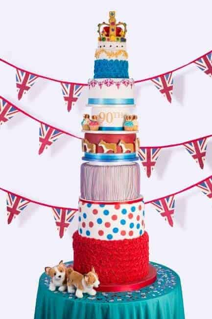 Dr Oetker Nine Tier Cake for the Queens 90th Birthday