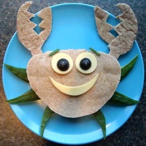 Fun Crab Pitta Sandwich Idea from Funky Lunch