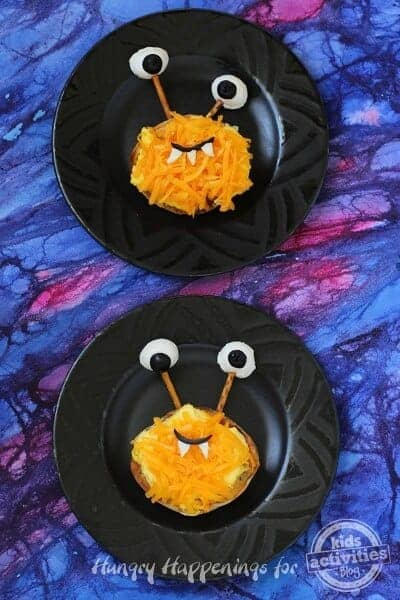Hilarious breakfast monster sandwiches from Kids Activities Blog