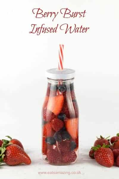 Summer Berry Fruit Infused Water for Kids - such a fun way to convince kids to drink enough water and stay hydrated - Eats Amazing UK