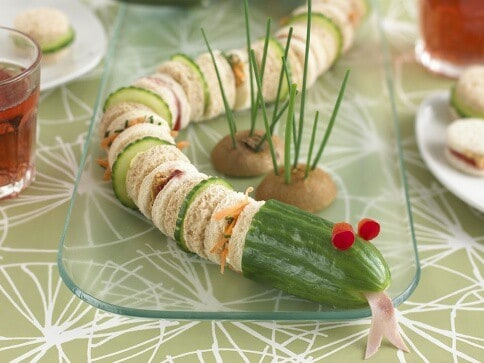Super cool snake sandwich from Anabel Karmel - kids will love this fun sandwich idea