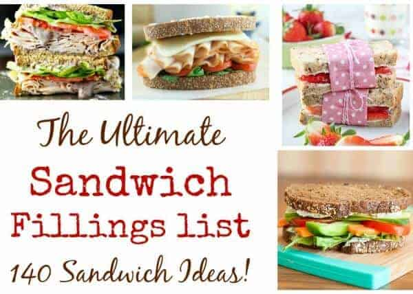 Tasty sandwich filling ideas for packed lunches - over 140 ideas and recipes - Eats Amazing UK