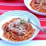 Eats Amazing on Instagram - Easy One Pan Meatballs and Spaghettie Recipe with Bertolli