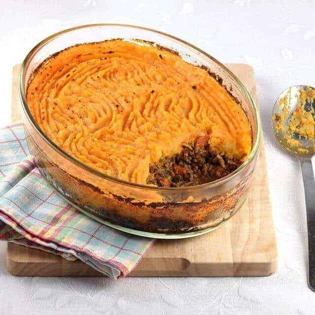 Shepherds Pie With Sweet Potato Mash