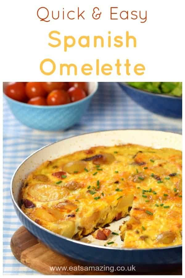 How to make a Spanish Omelette - this super easy recipe makes a great family meal idea kids will love! #easyrecipe #omelette #eggs #familyfood #kidsfood #mealideas #dinnertime #dinnerrecipes #potatoes #healthykids