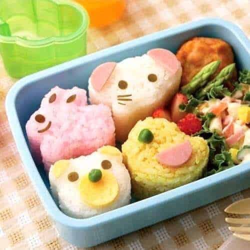 Set of 4 cute Animal Rice Moulds from the Eats Amazing UK Bento Shop fun healthy food for kids lunch boxes and bento boxes