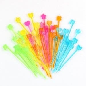 Set of 50 rainbow bento picks from the Eats Amazing UK Bento Shop - brilliant for decorating kids lunch boxes snacks and party food