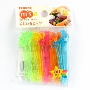 Set of 50 rainbow bento picks from the Eats Amazing UK Bento Shop - perfect for decorating kids lunch boxes snacks and party food