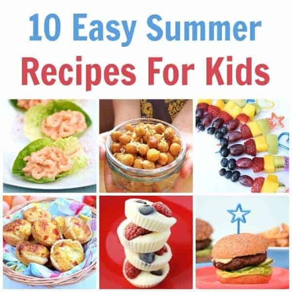 10 brilliant recipes for cooking with kids this summer - a great collection of easy recipes for kids with free printable child friendly recipe sheets