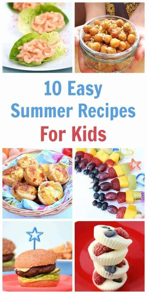 10 favourite recipes for cooking with kids this summer - a great collection of easy recipes for kids with free printable child friendly recipe sheets