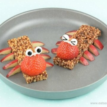 Cereal Bar Bugs made with new Organix crispy bars - a cute healthy snack idea for toddlers