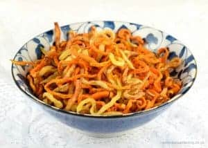 Spiralized Sweet Potato Curly Fries Recipe