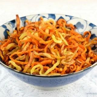 Spiralized Sweet Potato Curly Fries Recipe
