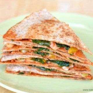 Easy Vegetarian Pizza Quesadilla Recipe