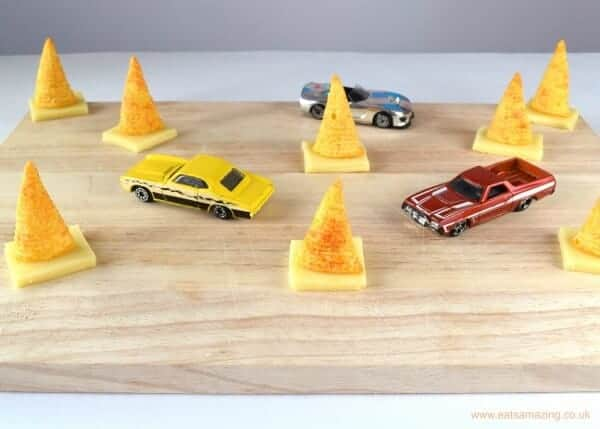 Edible Traffic Cones - Fun Food Game and Snack Idea for Kids from Eats Amazing UK with new Walkers Bugles crisps