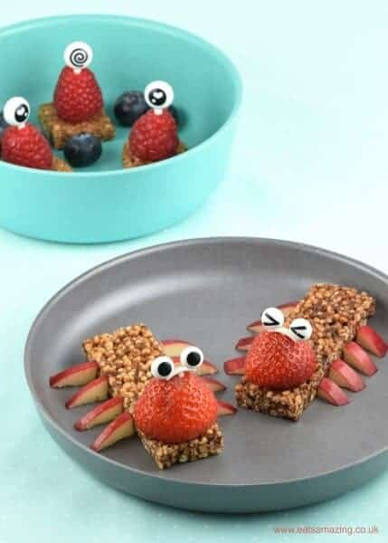 Fun aliens and bugs - cute edible craft for kids - a fun and healthy snack idea from Eats Amazing UK