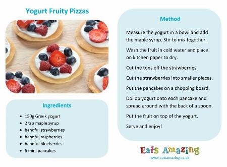 Mini Yogurt Fruit Pizzas Recipe