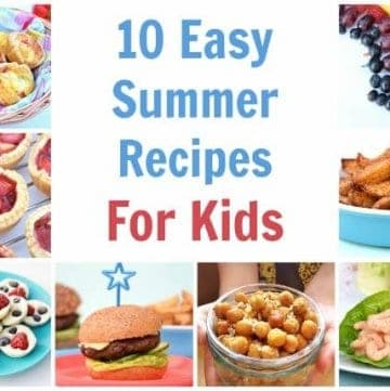 My 10 favourite recipes for cooking with kids this summer - a great collection of easy recipes for kids with free printable child friendly recipe sheets