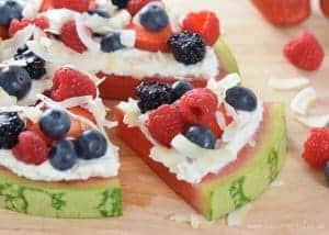 Berry & Coconut Watermelon Pizza Recipe