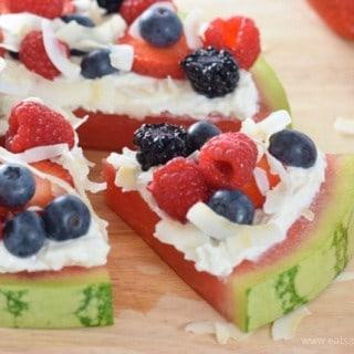 Berry & Coconut Watermelon Pizza Recipe