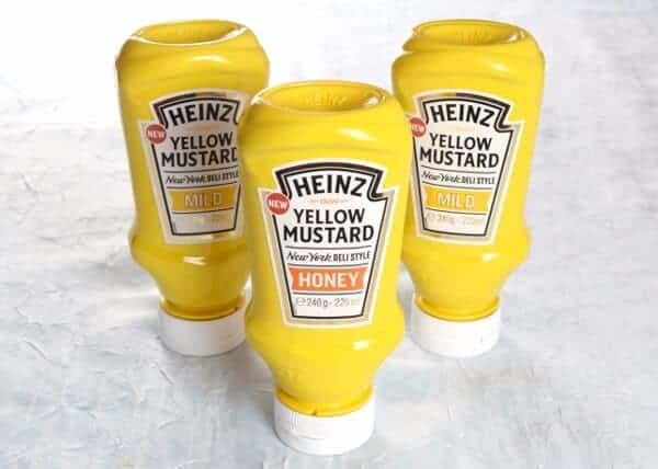 Heinz Yellow Mustard Recipe - Honey Mustard Sausage and Potato Skewers - a great prep ahead BBQ recipe for summer parties or a quick family meal