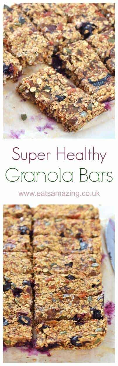 Super healthy granola bar recipe from Olympian Dame Mary Peters - sugar free dairy free and nut free - great for refuelling the whole family #granola #breakfast #breakfasttime #breakfastrecipes #familyfood #healthysnacks #healthyrecipes #healthybreakfast #kidsfood #snack #snacking #oats #nutfree #dairyfree