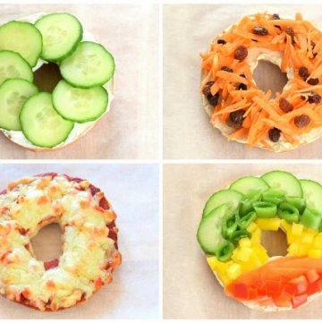 8 Healthy Bagel Topping Ideas for Kids