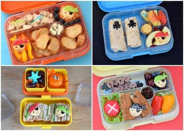 A week of fun pirate themed lunches for kids - healthy and easy school lunch ideas from Eats Amazing UK