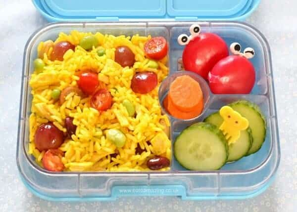 Easy rice salad for packed lunches - Eats Amazing UK