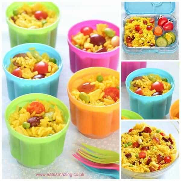Easy rice salad pots - a great alternative to sandwiches for packed lunches - allergy friendly - gluten free nut free and dairy free