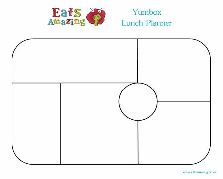 Free Printable Yumbox Classic Single Lunch Planner Horizontal from Eats Amazing UK