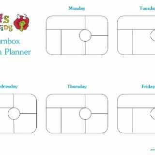 Yumbox Template Lunch Planners