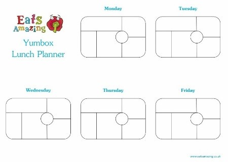 Free Printable Yumbox Classic Weekly Lunch Planner Horizontal from Eats Amazing UK