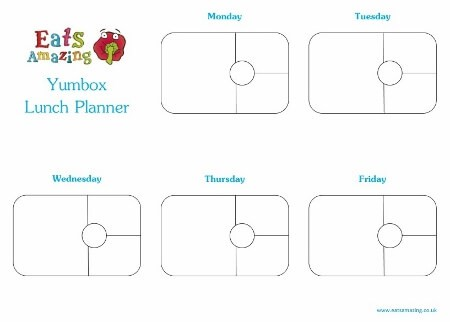Free Printable Yumbox Panino Weekly Lunch Planner Horizontal from Eats Amazing UK