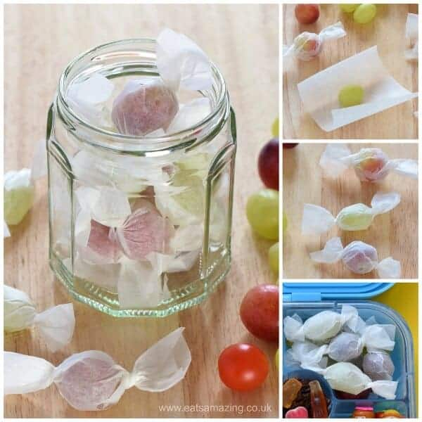 Fun food prank for kids - grape and tomato sweets - easy cute idea for party food snacks lunch boxes and April fools day too - Eats Amazing UK