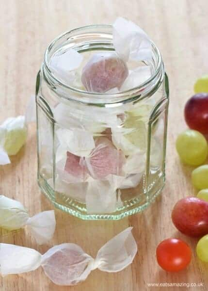 Fun food prank for kids - grape and tomato sweets - such a cute idea for party food snacks lunch boxes and April fools day too - Eats Amazing UK