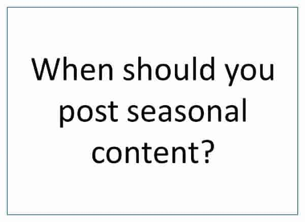 How to find inspiration for creative seasonal blog content all the year around - when to post seasonal content - Eats Amazing UK