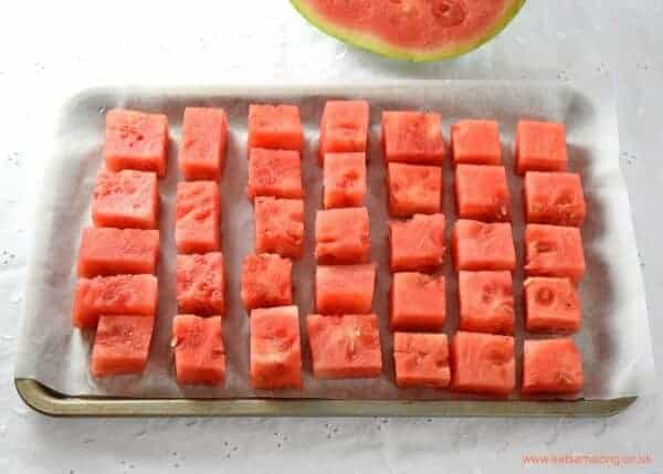 How to make watermelon ice cubes - Eats Amazing UK
