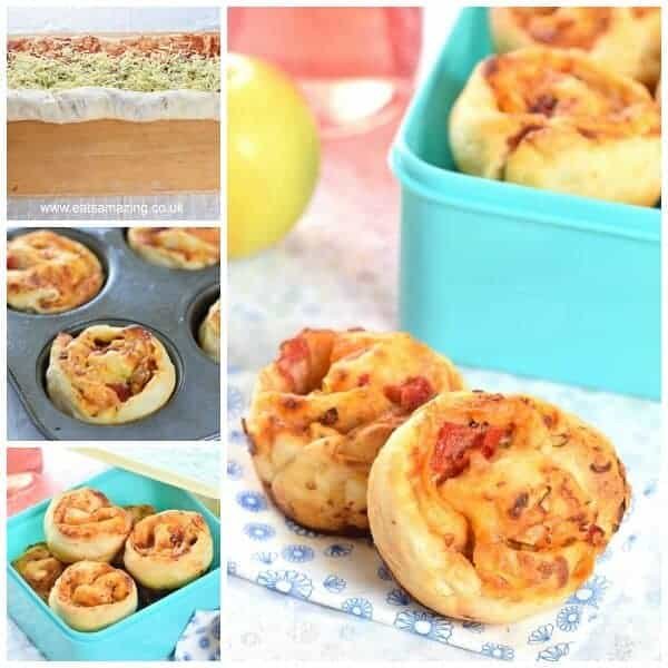 Really easy muffin tin pizza whirl rolls - great for freezing for kids school lunch boxes - Eats Amazing UK