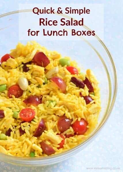 Really quick and easy rice salad - great for packed lunches for kids and adults too - Eats Amazing UK