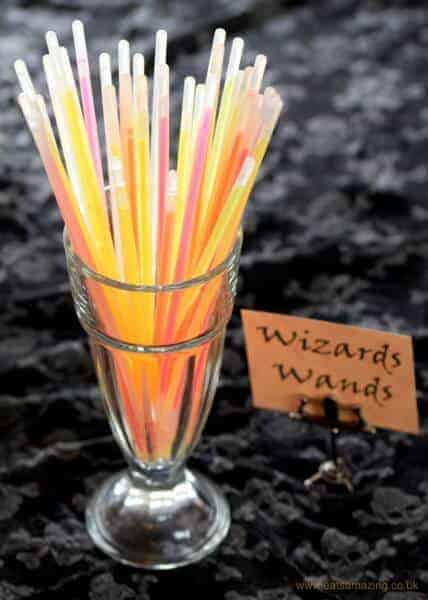 10 Alternative Trick or Treat Ideas for kids without all the sugar - glow sticks make great wizards wands - Eats Amazing UK