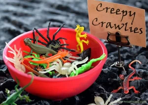 10 Alternative Trick or Treat Ideas for kids without all the sugar - plastic toy bugs and spiders are perfect for Halloween - Eats Amazing UK