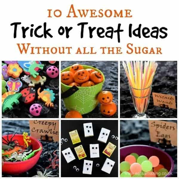 10 Alternative Trick or Treat Ideas - fun and healthy ideas without all the sugar from Eats Amazing UK