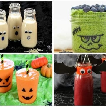 10 Fun and healthy Halloween Drinks for Children - Fun Halloween themed Smoothies Milkshakes and Smoothie Bowls that kids will love - Eats Amazing UK