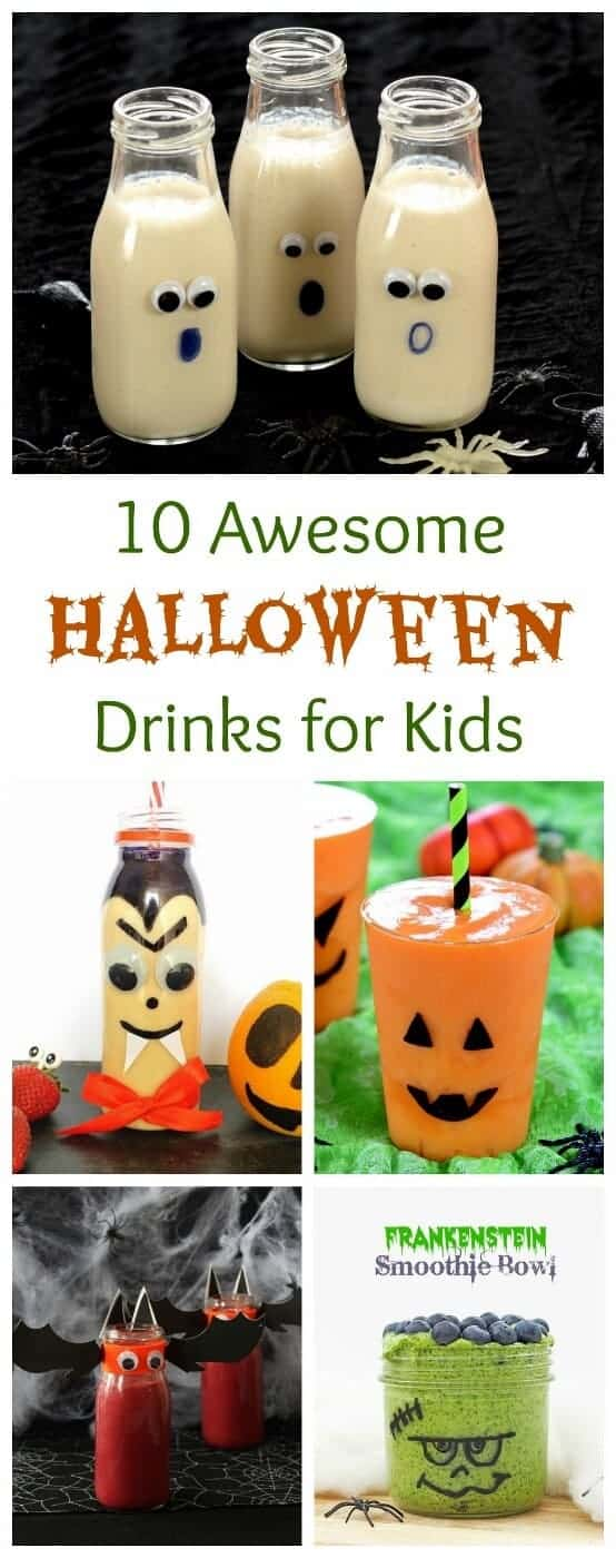 10 Fun and healthy Halloween Drinks for Children - Fun spooky themed Smoothies Milkshakes and Smoothie Bowls that kids will love - Eats Amazing UK