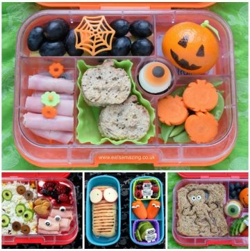 A week of fun and healthy Halloween bento lunch ideas for kids from Eats Amazing UK